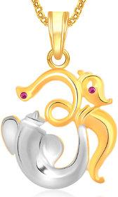 Om Ganpati God Pendant With Chain Lockets For Men And Women Gp295
