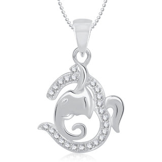 Om Ganpati God Pendant With Chain Lockets For Men And Women Gp272