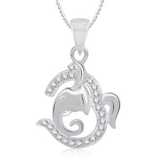 Om Ganpati God Pendant With Chain Lockets For Men And Women Gp272