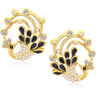 Meenaz Traditional Earrings Fancy Party Wear Kundan Moti Pearl Daimond Earrings - TR112
