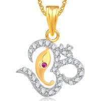 Om Ganpati God Pendant With Chain Lockets For Men And Women Gp309
