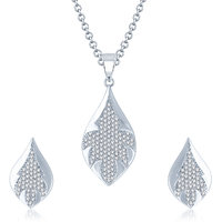 Meenaz Pendants Set Jewellery With Chain In American Diamond Gold Plated Cz Pendant  Locket Sets For Gifts Pt106
