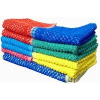 Bpitch Diamond Dobby Face Towel (Set Of 10)