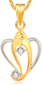 Ganpati God Pendant With Chain Lockets For Men And Women Cz Gp308
