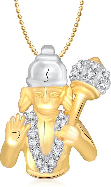 Hanuman God Pendant With Chain Lockets For Men And Women Gp159