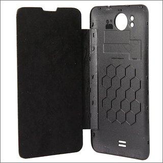 huge discount 4cc3b 08e6c Micromax A111 Canvas Doodle Flip Cover Pouch Case - Black