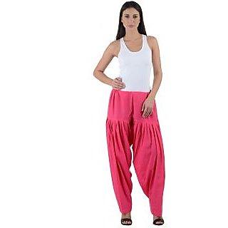 NumBrave Womens Cotton Pink Full Patiala Salwar