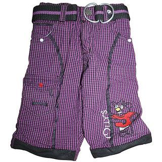 Mankoose Capri-Boys Halfpant/Three-fourth/Bermuda Purple Size 3 (2-3 Yr) 2935 B
