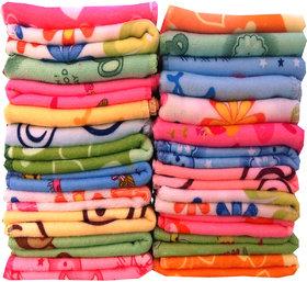 Xy Dcor Multicolor Cotton Face Towel (Set of 20)