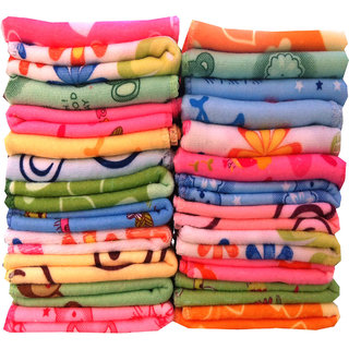 Xy Dcor Multicolor Cotton Face Towel (Set of 20)