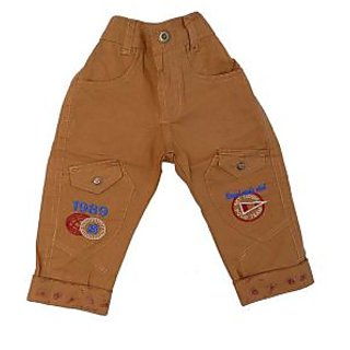 Sky Lite Maroon Boys Cotton Pant