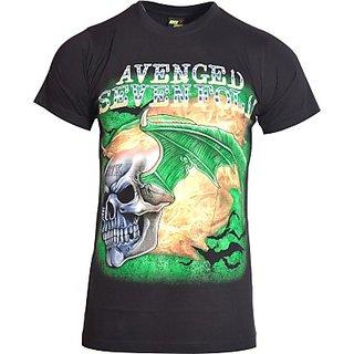 Avenster Printed Mens Round Neck TShirt half sleeves