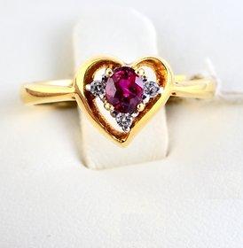 Burmese Ruby Diamond Ring By Suranas Jewelove (Design 4)