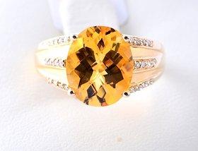 Yellow Citrine Ring By Suranas Jewelove