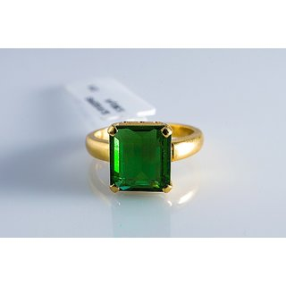 Fine Natural Emerald Ring In 22K Gold By Suranas Jewelove