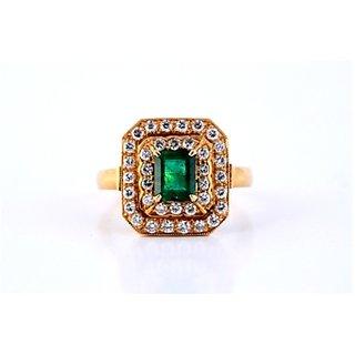 Vintage Emerald Ring With Diamonds By Suranas Jewelove