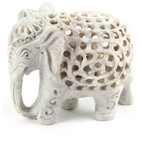 Shopstone Undercut Elephant For Home Decoration 3.5 Inch