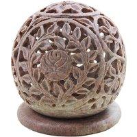 Shopstone Flower Carved Tea Light Holder Best Decorative Item