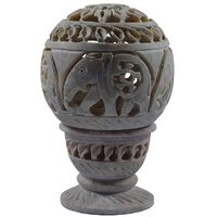 Shopstone Elephant Carved Tea Light Holder Showpeace And Gift Item
