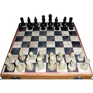 White Marble Chess Board With Marble Peace Best Gift Item 10 Inch