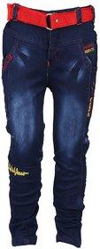 Weecare Men's Cotton Blend Regular Fit Black Jeans