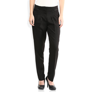 Lifestyle Black Regular Fit Trousers