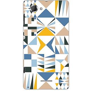 Garmor Designer Plastic Back Cover For Sony Xperia L