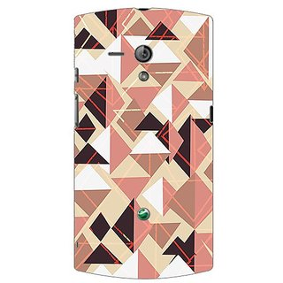 Garmor Designer Plastic Back Cover For Sony Xperia Neo L
