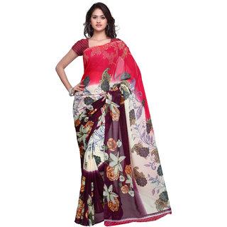 Prafful Cream Georgette Printed Casual Wear Saree