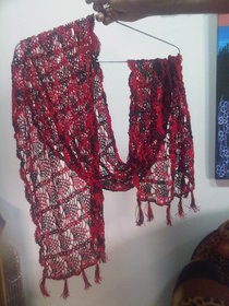 REFLECTIONS-- PURELY HANDMADE CROCHET PRODUCT-----ALL SEASONS ALL AGES STOLE