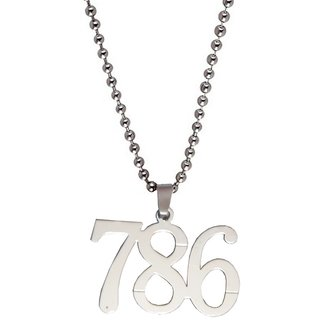 Silver  786 Symbol in   Pendent