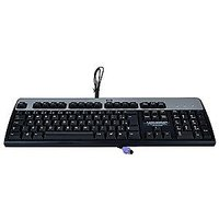HP KB-0316 105-Key PS/2 Keyboard (Black/Silver)