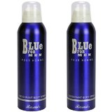 Rasasi Blue For Men Deodorant Body Spray - 200ml (Pack Of 2)
