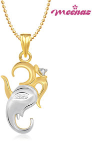 Om Ganpati God Pendant With Chain Lockets For Men And Women Gp200