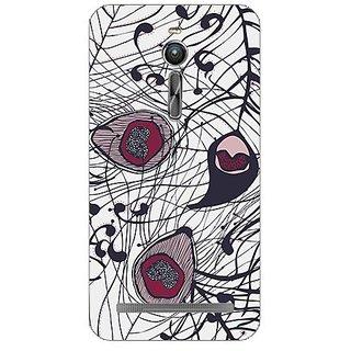 Garmor Designer Plastic Back Cover For Asus Zenfone 2 ZE551ML