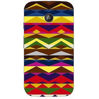 Garmor Designer Plastic Back Cover For Motorola Moto E2
