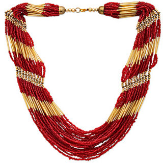 Beads Red Necklace