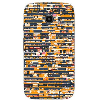 Garmor Designer Plastic Back Cover For Motorola Moto E