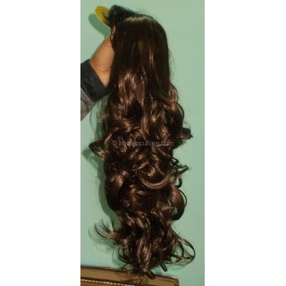 Get Instant Other Party look with Light Brown All Hair Types Fall Extensions (g, No of units 1)