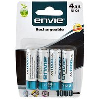 Envie Rechargeable AA Batteries - Pack Of 4