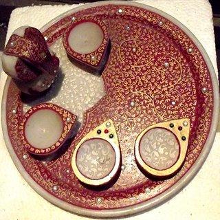 Wbrand Puja Thali Marble