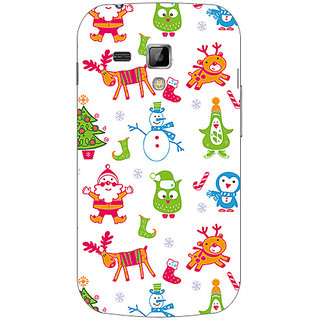 Garmor Designer Plastic Back Cover For Samsung Galaxy S Duos S7562