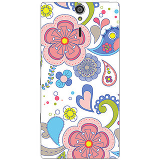 Garmor Designer Plastic Back Cover For Sony Xperia S