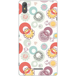 Garmor Designer Plastic Back Cover For Sony Xperia T3