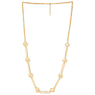Gold Plated And Diamond Colour Necklace