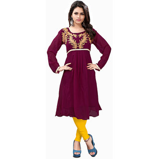 Lovely Look Meganta Embroidered Stitched Kurti LLKELE1002XL