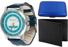 Combo of Mavrik Sport Watch And Card Folder, Wallet