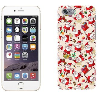 Apple iPhone 6 Design Back Cover Case - Black Santa Claus Texture Background Pictures
