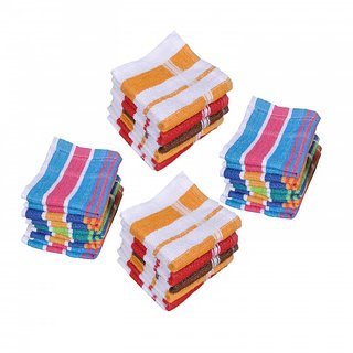 Xy Decor Pack of 20 Cotton Face Towel Multicolour (Sp20)
