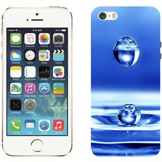 Apple iPhone 5 5S Design Back Cover Case - Black Drop Water Liquid Spray